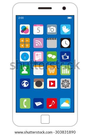 smart phone Vector - stock vector