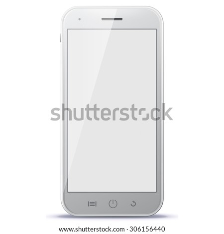 Smart Phone Vector Illustration. - stock vector