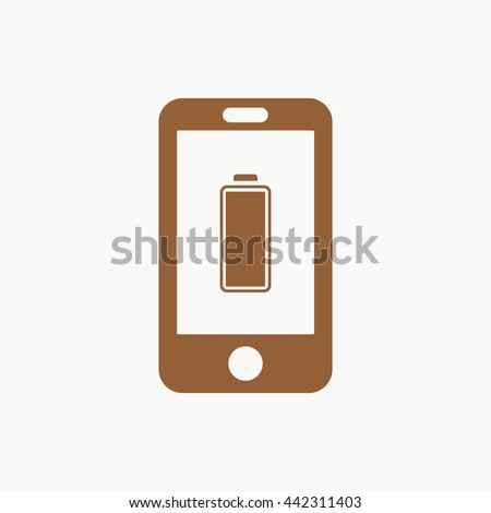 smart phone with battery vector icon