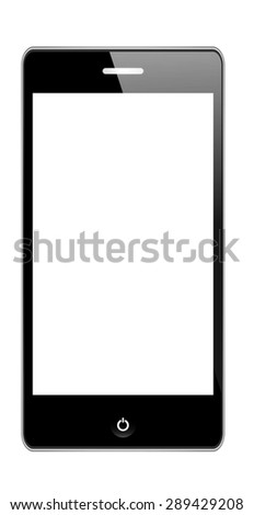 Smart Phone With Blank Screen Isolated. Vector Illustration eps 10.