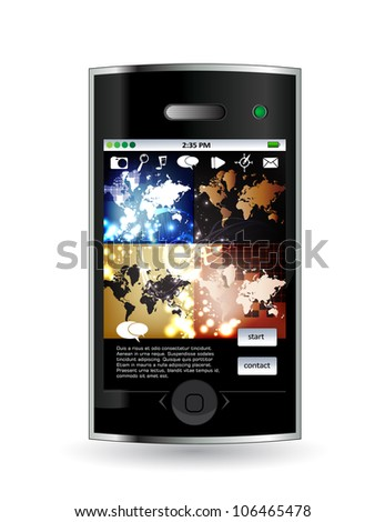 Smart phone with business application