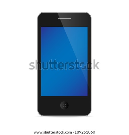 smart phone with color wallpaper isolated / realistic