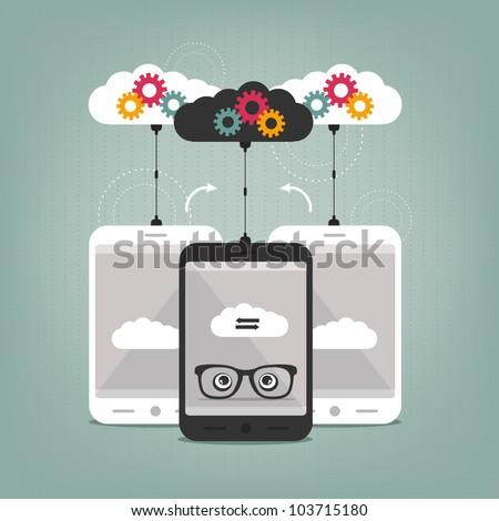 smart phones concept - stock vector
