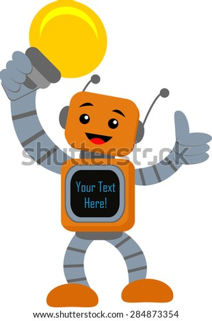 Smart Robot - stock vector
