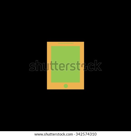 Smart tablet. Color vector icon on black background - stock vector
