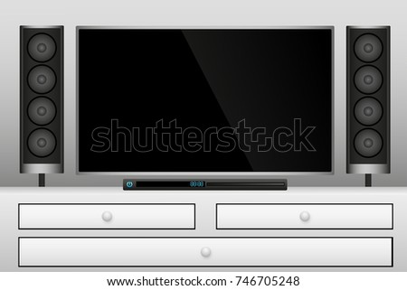 Smart Tv and home theater graphic vector