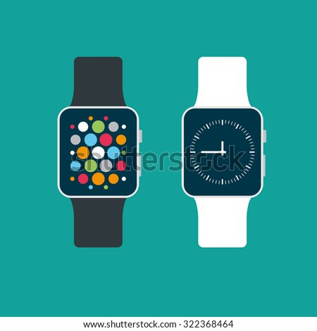 Smart watch - stock vector