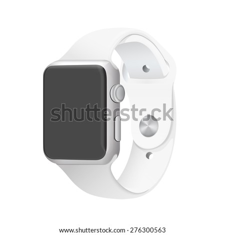 Smart Watch Concept Realistic Illustration