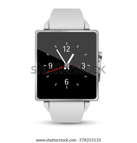Smart watch illustration on white background - stock vector