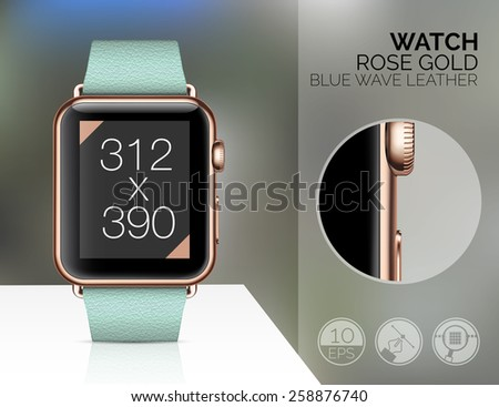 Smart watch isolated on white background. Vector illustration