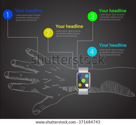 smart watches infographics