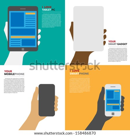 Smartphone and Tablet .Illustration EPS10 - stock vector