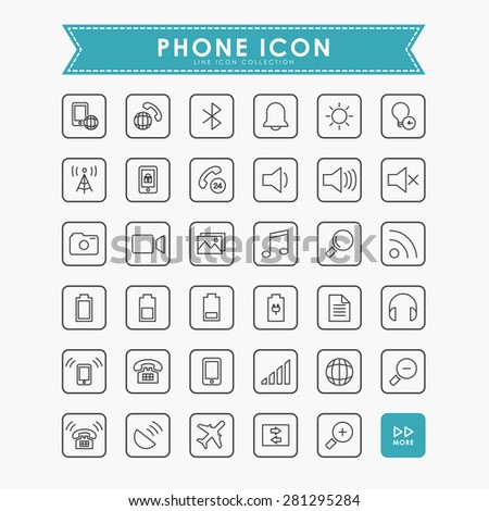 smartphone and web outline icons