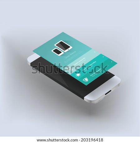 smartphone app - stock vector