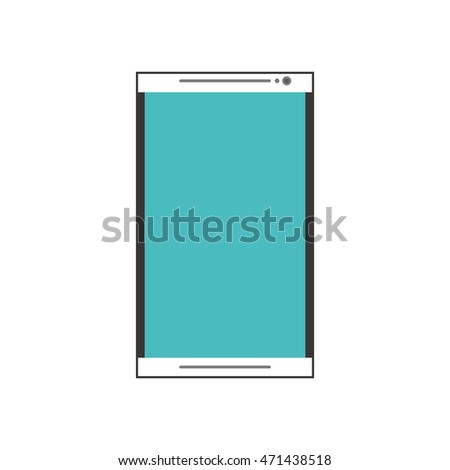 smartphone cellphone gadget technology icon. Flat and Isolated design. Vector illustration