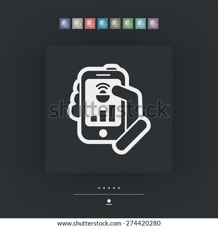 Smartphone connection icon - stock vector