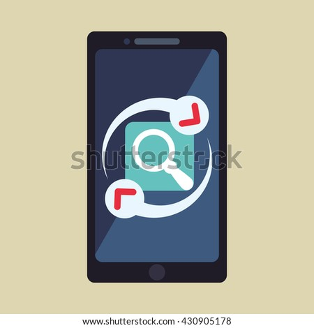 Smartphone design. App icon. White background  , vector