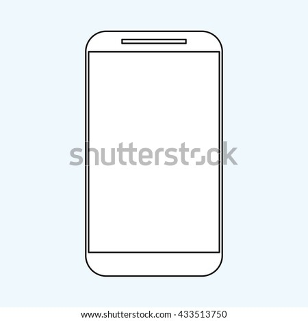 Smartphone design. Media icon. Flat illustration, vector graphic