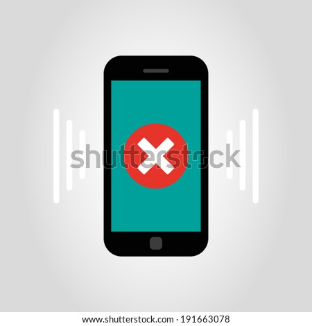 smartphone - error - stock vector