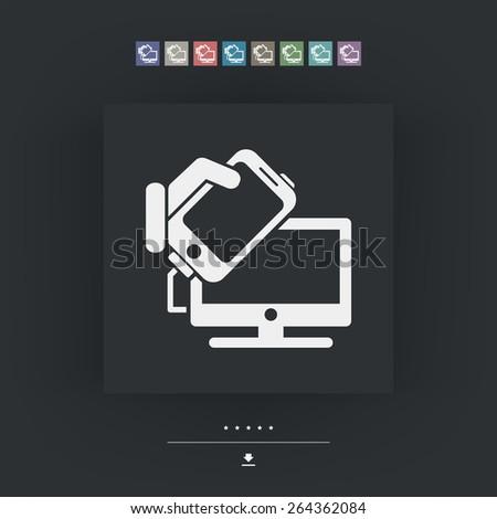Smartphone files sharing - stock vector