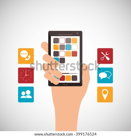 smartphone gadget design, vector illustration