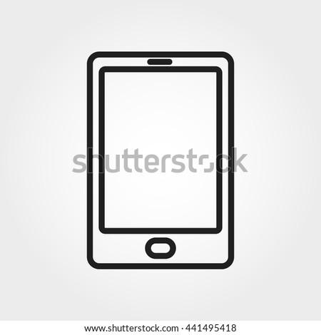 smartphone icon - stock vector