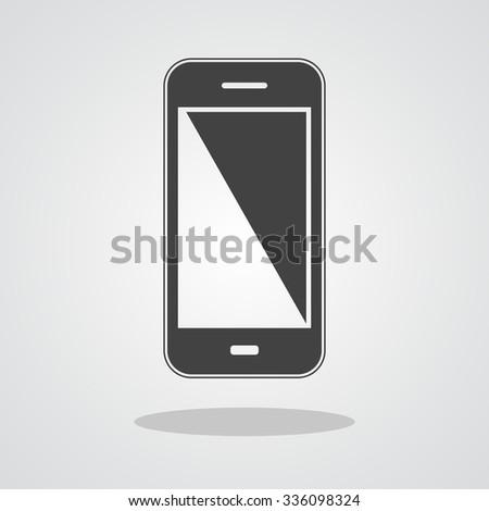 Smartphone icon flat design. Vector illustration - stock vector