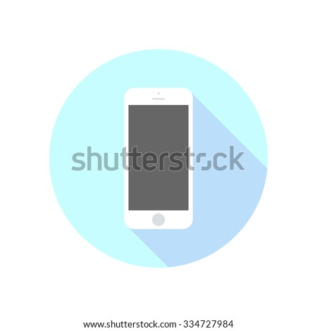Smartphone icon in iphone style. Cellphone pictogram in trendy flat style isolated on white background. Telephone symbol for your web site design, logo, app, UI. Vector illustration, EPS10. - stock vector
