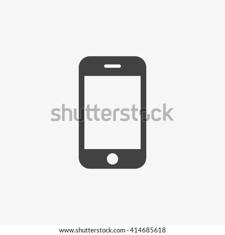 Smartphone Icon in trendy flat style isolated on grey background. Cellphone pictogram. Telephone symbol for your web site design, logo, app, UI. Vector illustration, EPS10. - stock vector