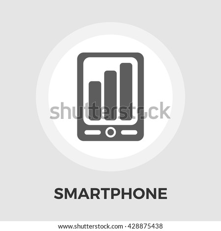 Smartphone icon vector. Flat icon isolated on the white background. Editable EPS file. Vector illustration. - stock vector