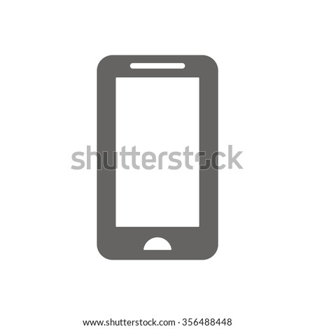 smartphone icon,vector illustration  icon, vector illustration. Flat design style - stock vector