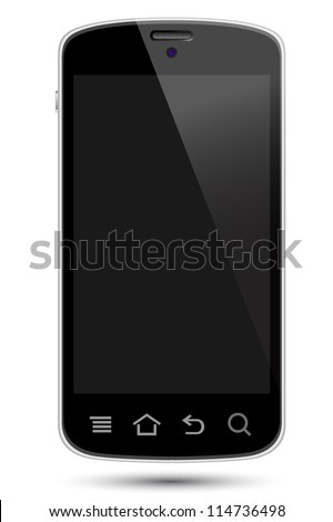 smartphone illustrations in eps10 format, to preserve the transparency effects. - stock vector