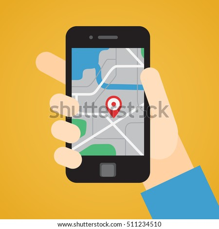 Smartphone in hand. GPS pointer on the map. Part four.