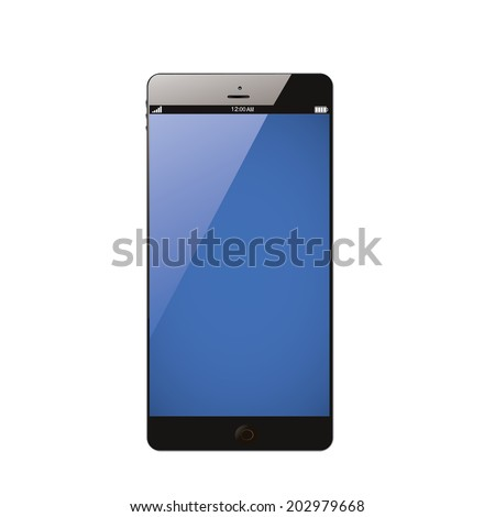 Smartphone isolated on white background - stock vector