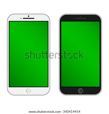 Smartphone  Isolated / Realistic mobile iphon style mockup vector / Can use for printing and website. - stock vector