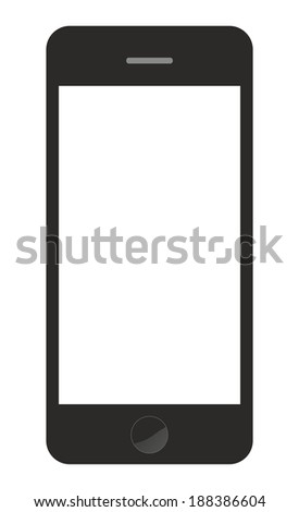 smartphone isolated vector - stock vector
