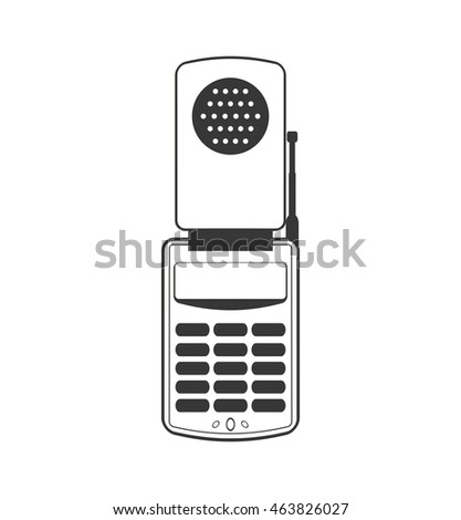 smartphone mobile cellphone gadget communication icon. Isolated and flat illustration. Vector graphic