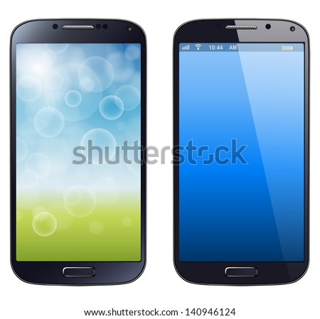 Smartphone, mobile phone isolated, realistic vector illustration. - stock vector