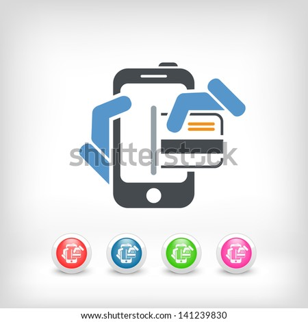 Smartphone shopping icon