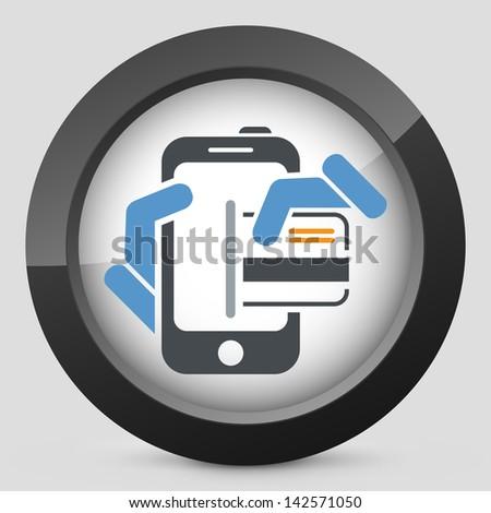 Smartphone shopping icon - stock vector