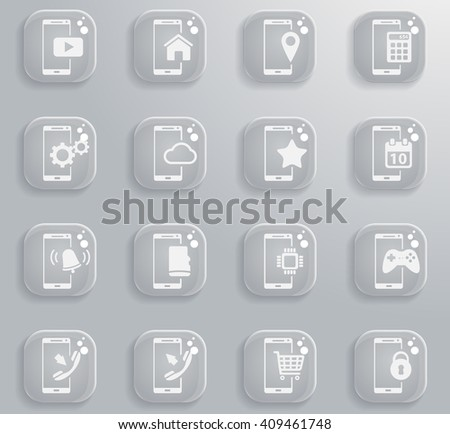 Smartphone simply symbol for web icons and user interface