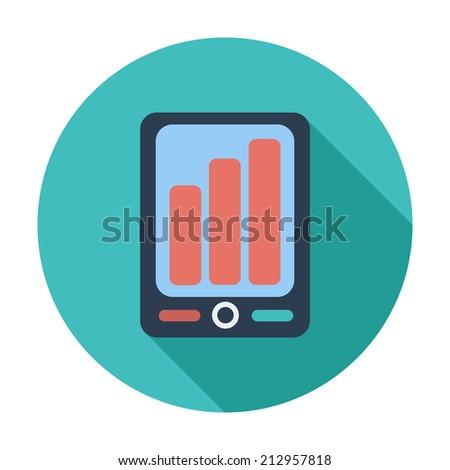 Smartphone. Single flat color icon. Vector illustration. - stock vector