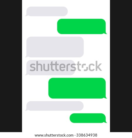 Smartphone SMS Chat Bubbles. Vector - stock vector