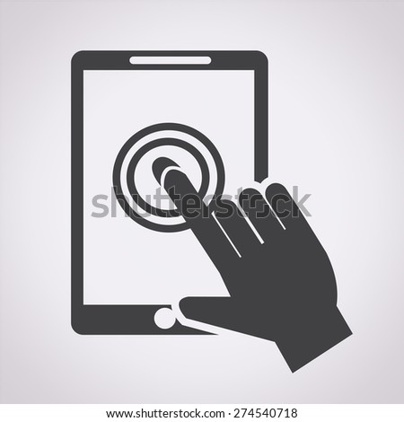 Smartphone touchscreen icon - stock vector