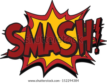 smash - stock vector