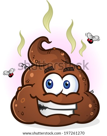 Smelly Pile of Poop Cartoon Character