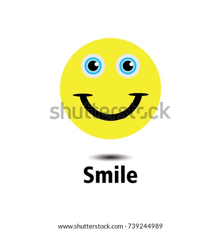 smile emoticon logo vector template design em vetor stock 739244989