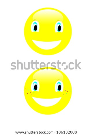 smile emotions  - stock vector