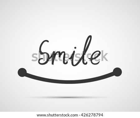 Smile font design, vector illustration, graphic design, creative typographic - stock vector