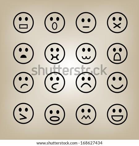 Smile icon Illustration, Vector, Icon  - stock vector